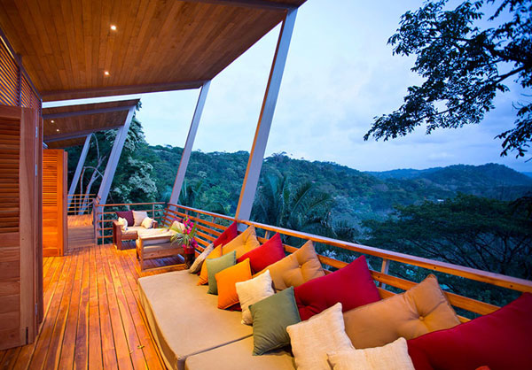 On the long and cozy terrace you can spend countless hours on evenings.