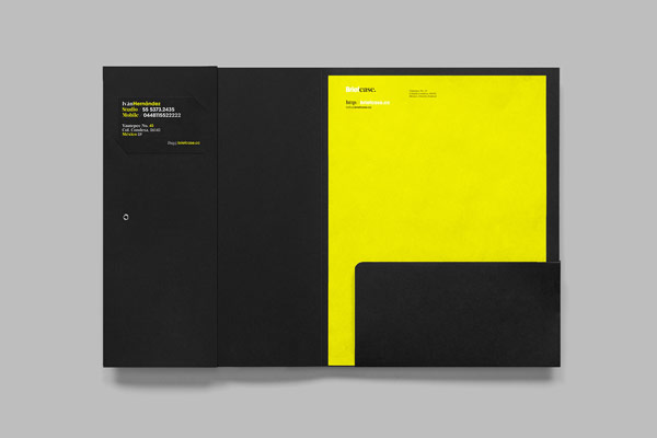 Open folder for some printed collateral.