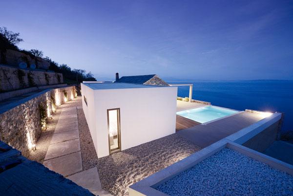 villa melana a modern house in greece with great sea views