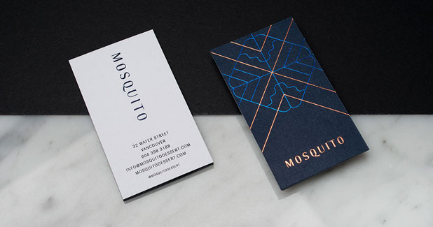 Two-sided business card.
