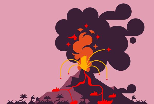 Pics Photos - Erupting Volcano Color