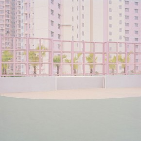 Pastel-Colored Sports Fields and Architecture captured by Ward Roberts