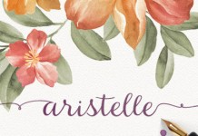 Aristelle, a new handwritten font family by Elena Genova of foundry My Creative Land.
