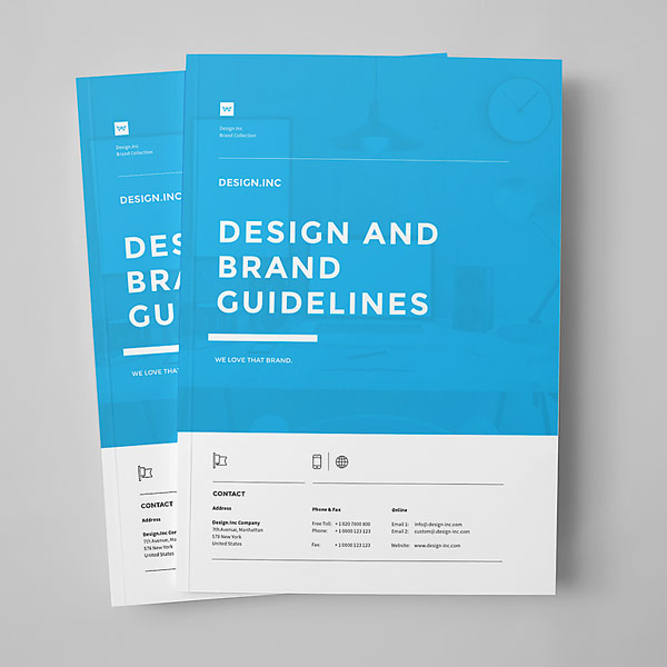 brand manual template With user manual design template
