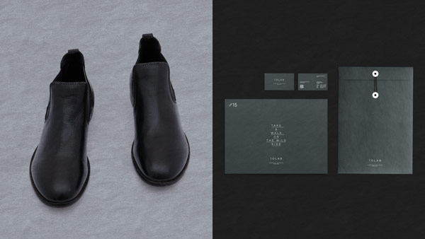 Corporate identity of  IOLAB, the general representation of MOMA Shoes in Germany.