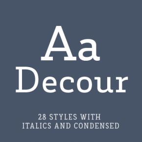 Decour Font Family from Latinotype