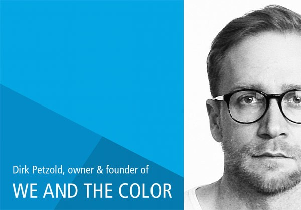 Dirk Petzold, owner and founder of WE AND THE COLOR