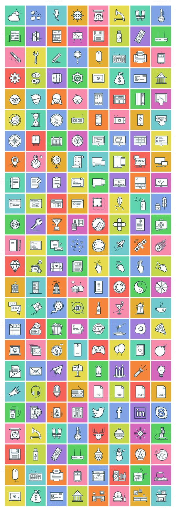 Dropicons – Flat Line Icons