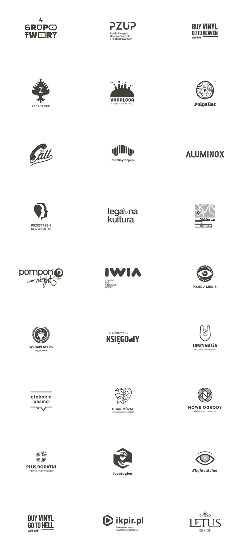 Logos by Łukasz Kowalik aka Beetroot Graphics