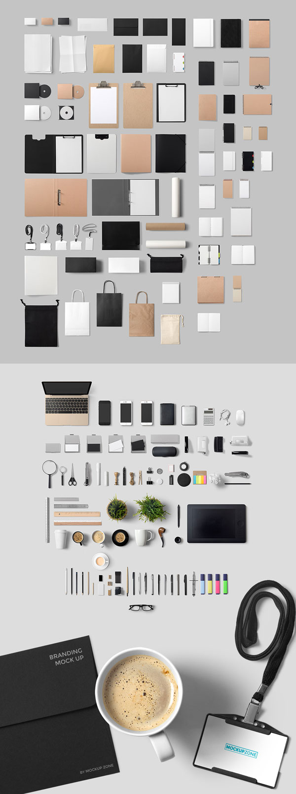 Lots of branding, office, and stationery items photographed in great quality.