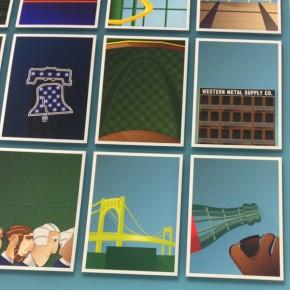 Minimalist MLB Ballparks Illustrated by S. Preston