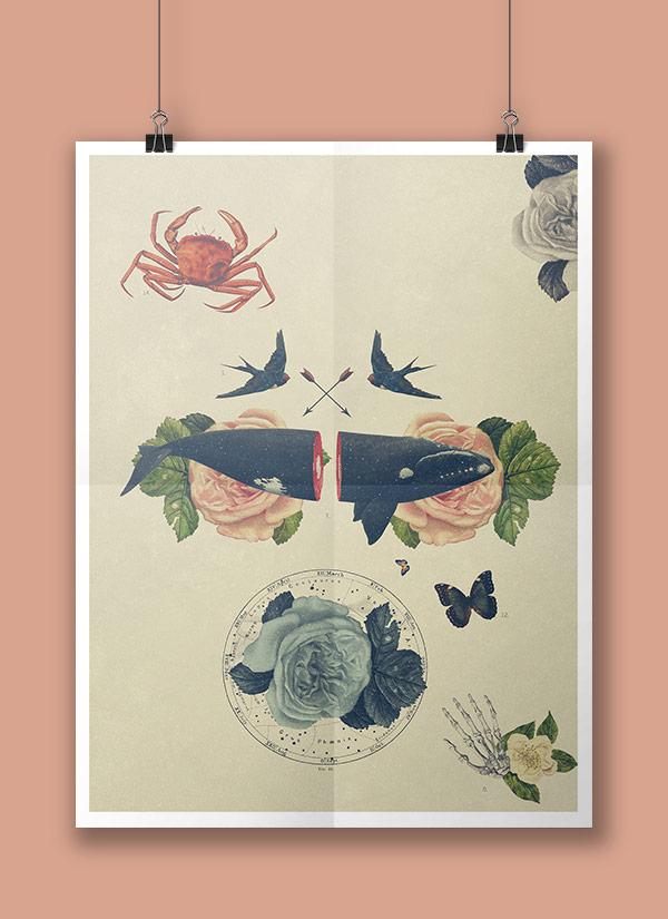Surreal poster artwork by Alex Lorenzo.