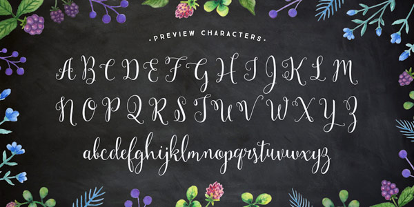 The alphabet with all letters including uppercases and lowercases.