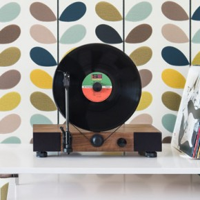 Floating Record - Vertical Turntable by Gramovox