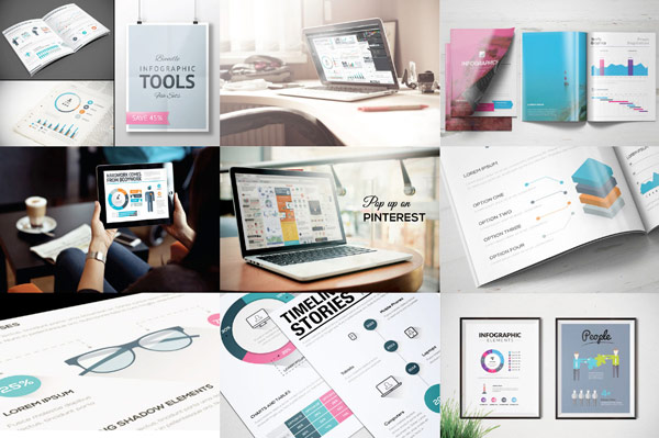 With this infographic templates mega bundle you can create stunning infographics for print and web design.