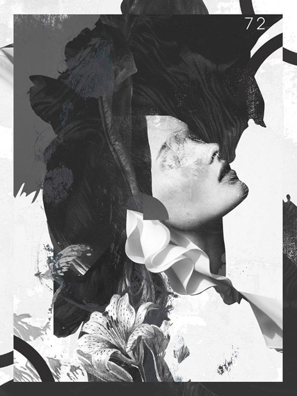 Work from a series of black and white collages created in 2015.