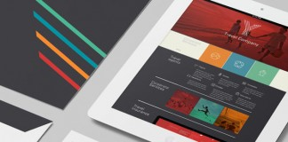 A detail shot of the Y Travel brand identity.
