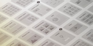 A website wireframe kit from Tugcu Design Co.