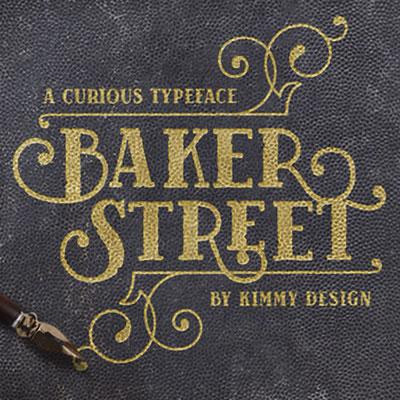 Baker Street Fonts from Kimmy Design