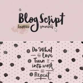 Blog Script - Hand Drawn Typeface from Sudtipos