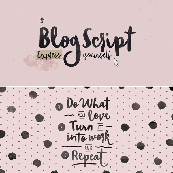 Blog Script – Hand Drawn Typeface from Sudtipos