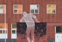Chained, a collaborative artwork at the Università Bicocca, Milano by Edoardo Tresoldi and Gonzalo Borondo.