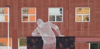 Chained, a collaborative artwork at the Università Bicocca, Milano by Edoardo Tresoldi and Gonzalo Borondo.