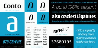 Conto is the the basis typeface of the Conto Super Family Nils Thomsen of Nils Types.