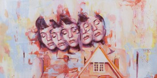 'No Place Like Home' - acrylic painting on canvas in the size of 100 cm x 100 cm.
