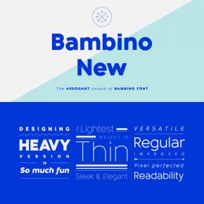 Bambino New Font Family from Mindburger Studio