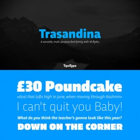 Trasandina Font Family from TipoType
