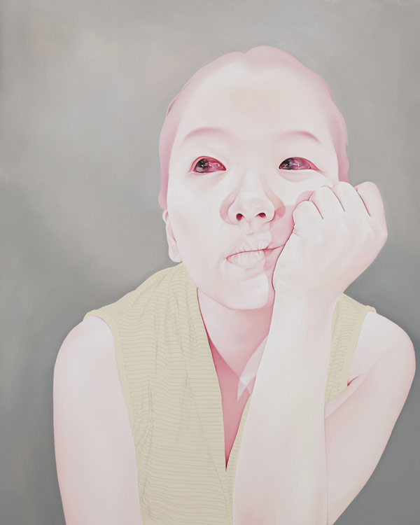 Work from the Melancholy series by South Korean artist Sungsoo Kim.