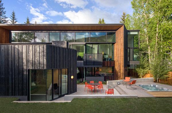 A  contemporary home located in Aspen, Colorado.