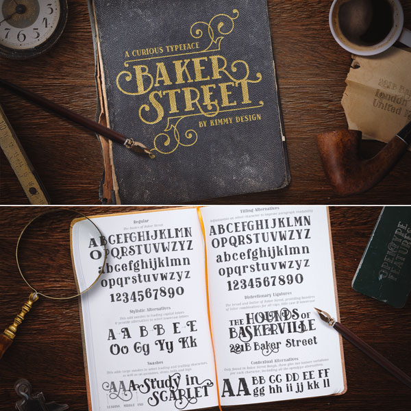 Baker Street Fonts from Kimmy Design