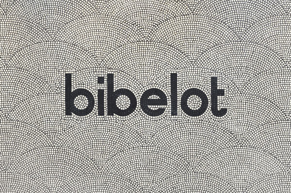 Bibelot logotype with background pattern illustration created by branding and graphic design studio A Friend Of Mine.