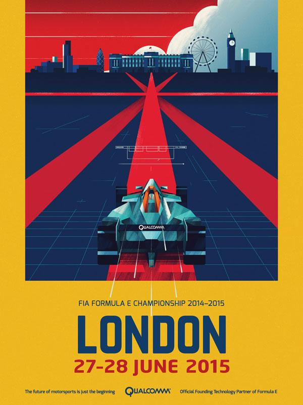 Formula E Championships - London Posters.