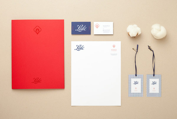 Lale - organic fashion brand identity and stationery design by branding and illustration studio Menta.
