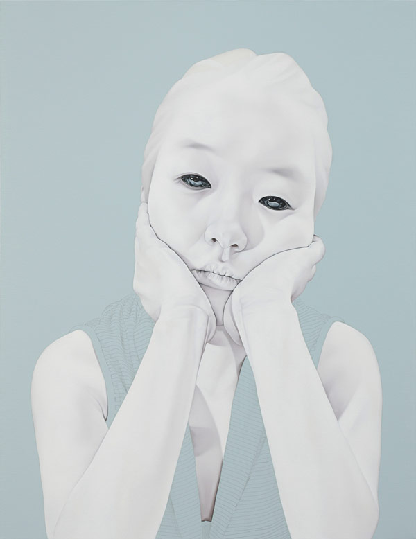 Melancholy, indifference or sadness, this portraiture by artist Sungsoo Kim has a strong expression.