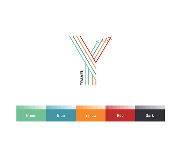 The color palette used for the logo.