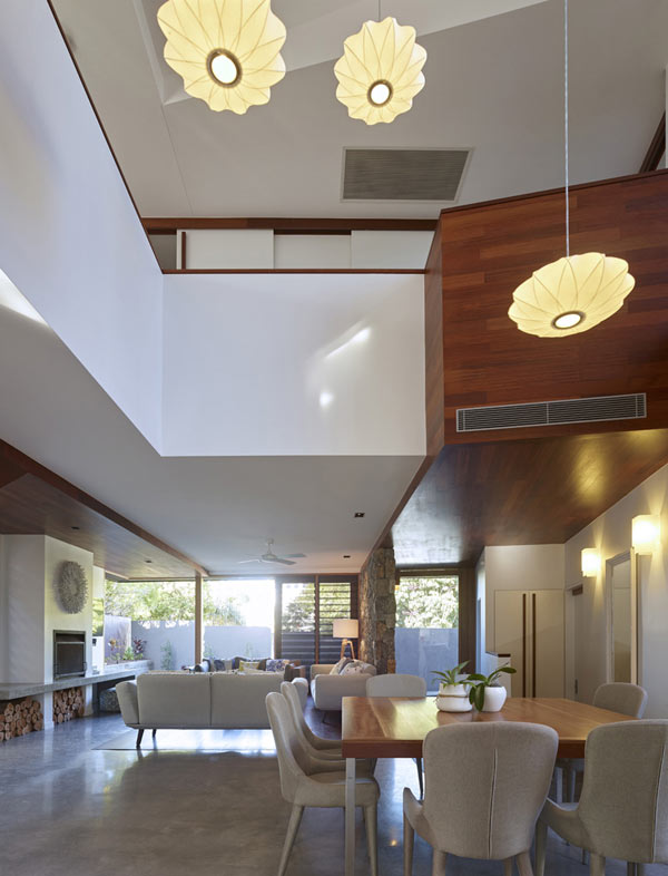 The interior is characterized by large open spaces.