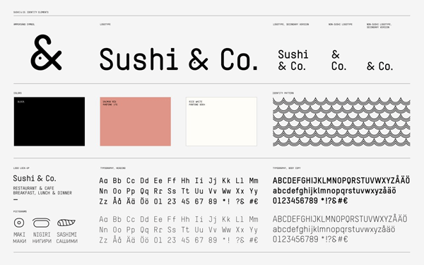 Sushi and Co branding guide.