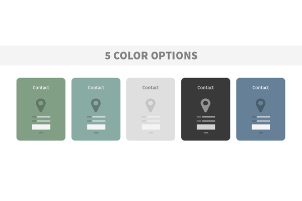 The wireframe UK kit also includes 5 color options - all included in different files.