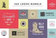 465 stylish logos in one massive bundle.