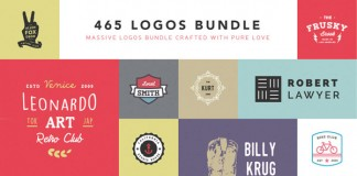 465 stylish logos in one massive bundle.
