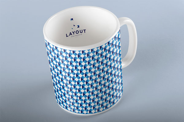 Cup with typical brand pattern.