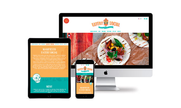 Web design with responsive mobile version.