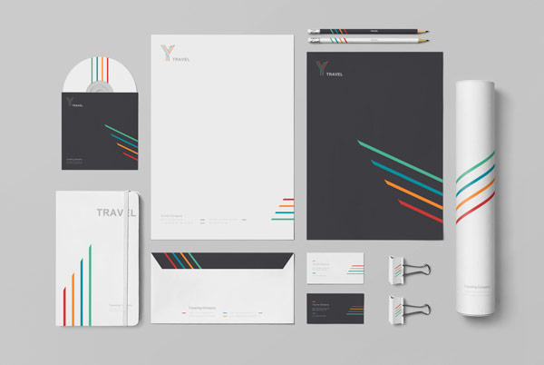 The complete stationery set was designed by Nikoloz Bionika.