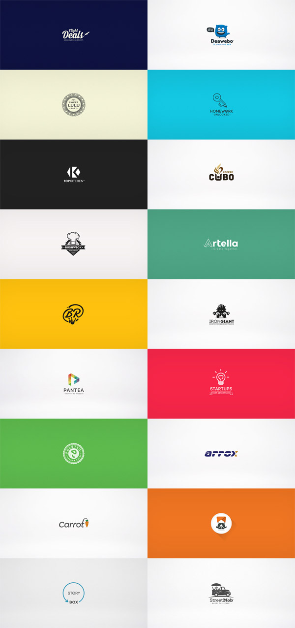 A collection of diverse logos created by Esteban Oliva in 2014 - 2015.