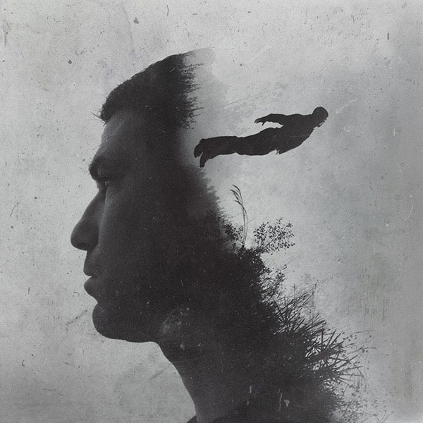 Being free means having the courage to let go. Work from a series of photo manipulations by Brandon Kidwell.