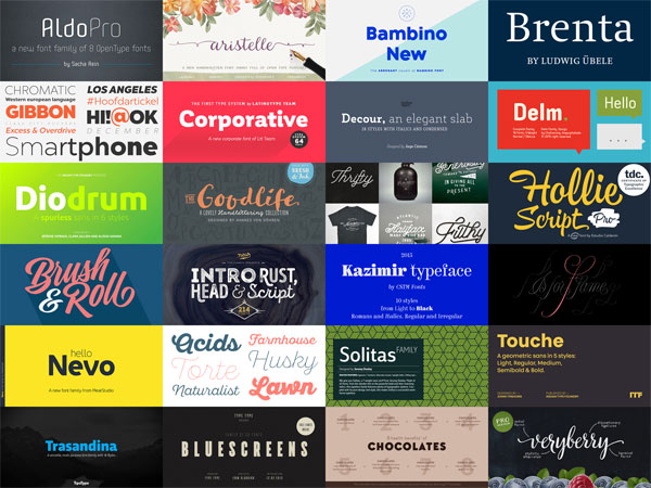 Best Fonts 2015 – List of Best Font Releases